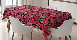 Strawberry Tablecloth Ambesonne 3 Sizes Rectangular Table Co