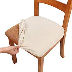 Smiry Stretch Spandex Jacquard Dining Room Chair Seat Covers