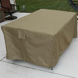 Sunnydaze Khaki Square Patio Dining Table Protective Cover -