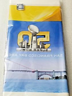 Creative Converting Super Bowl 50 Plastic Printed Tablecover