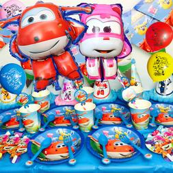 Super wings cup plate banner balloon topper cupcake table co