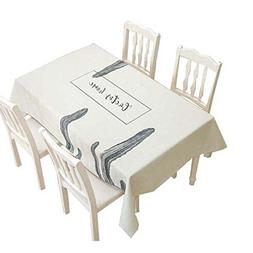 Panda Superstore Superior Quality Rectangular Tablecloth Fit