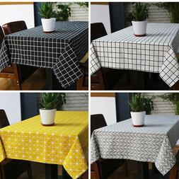 Sytlish Linen Table Cloth Rectangle Table Cover Tablecloth K