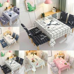 Table Cloth Chair Seat Cover Kitchen Dining Room Tableware S