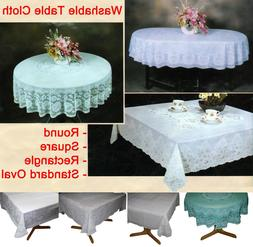 Table Cloth Cover Tablecloth Round Square Oval Rectangle Pla