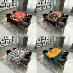 Ramadan Table Cloth Moslem Islamism Table Cover Waterproof T