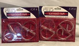 Party Essentials Table Cover Clips - Clear 4 Per Package-Lot