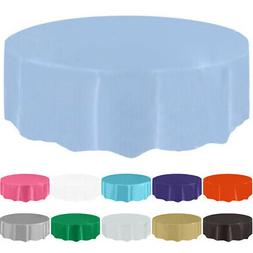 Table Cover Party Tablecloth Round Theme Dining Wedding Cott