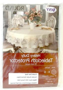 Table Cover Crystal Clear Vinyl Heavy Duty Tablecloth Spill
