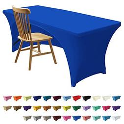 Table Cover Fitted Polyester Tablecloth Stretch Spandex Topp