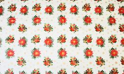 table cover ivy berries gold snowflake oval