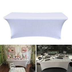 Table Cover Spandex Fabric Tablecloth Stretch Bar Bistro for