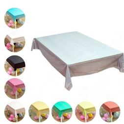 Table Covers Plastic Rectangle Waterproof Tablecloth Party C
