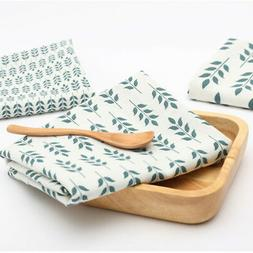 Table Decor Leaf Printed Dinner Mat Table Cover Cotton And L