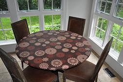 Table Cover Elastic Edged Flannel Backed Vinyl Fitted MEDALL