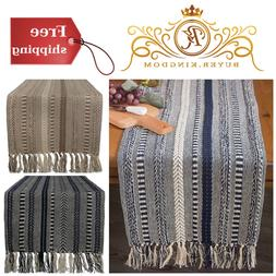 Table Runner Dresser Cover Braided Cotton Party Decorations