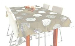 My Jolie Home Tablecloth Beige and Silver Sparkling Circle,