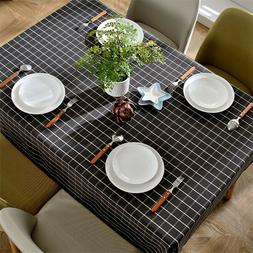 Tablecloth Cotton Linen Catoon Fabric Square Kitchen Table R
