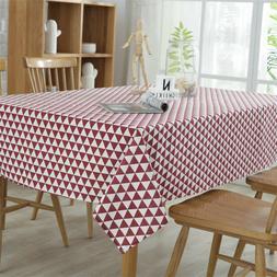 Tablecloth Cotton Linen Triangle Cotton Fabric Rectangle Kit