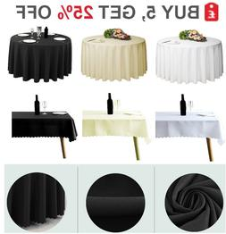 Tablecloth Cover Catering Events Wedding Party Polyester Tab