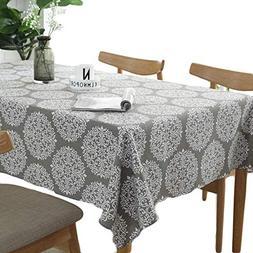 Meiosuns Tablecloth Grey Retro Table Cloth Rectangular Table