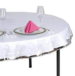 Tablecloth Heavy Duty Plastic Clear Vinyl Table Cover Spills
