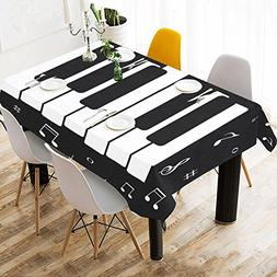 InterestPrint Tablecloth Music Icon Piano Keys Home Decor 60