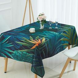 Tablecloth Printed Pattern Linen Material Square Shape Home