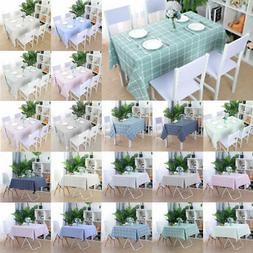 Tablecloth PVC Vinyl Rectangle Table Cover Oil Stain Water R