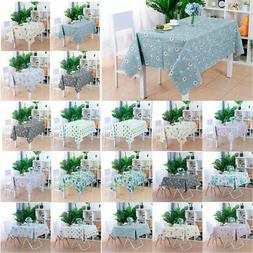 Tablecloth PVC Vinyl Table Cover Non-Slip Oil Stain Water Re