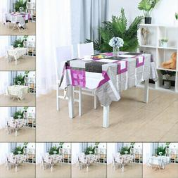 Tablecloth PVC Vinyl Table Cover Oil Stain Water Resistant T