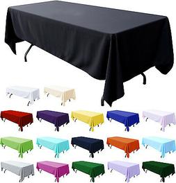 "Tablecloth Table Cover 108x58"" Rectangle Party Theme Linen N"