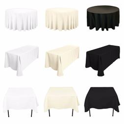 Tablecloth Table Cover Cloth Polyester Banquet Wedding Party