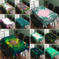 Tablecloth Wipe Clean Protector Leaf Table Cloth Cover Water