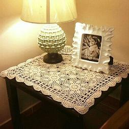 yazi Tablecloths Crochet Square Table Cover Lace Table Cover