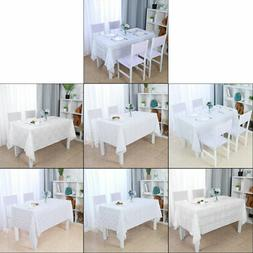 Tablecloths PVC Dining Table Cover Oil Stain Water Resistant