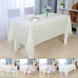 Tablecloths PVC Table Cover Oil Stain Water Resistant Wipe C