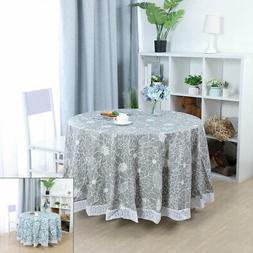 Tablecloths PVC Table Cover Water Resistant Flower Print for