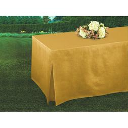 Tablefitters™ Flannel-Backed Table Covers Gold Home - Amsc