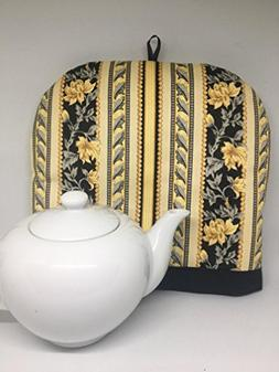 tall traditional yellow black floral