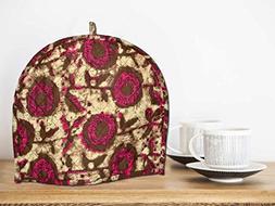 Ekavya Tea cosy british Maroon and Brown,Tea cosy pattern se