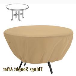 Classic Accessories Terrazzo Patio Table Cover, Round, Sand,