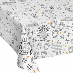 Thanksgiving Paper Activity Table Cover Children Coloring Ta