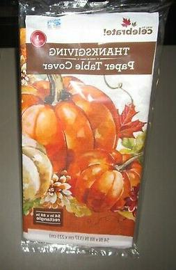"""THANKSGIVING Paper Table Cover Tablecloth~54"""" x 88"""" Rectangl"""