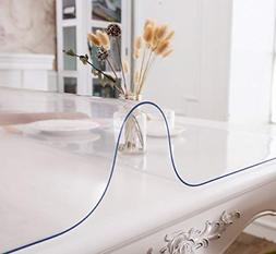 Thick Clear Table Cover Protector rectangle Vinyl Plastic De