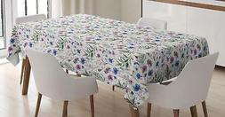 Thistle Tablecloth Ambesonne 3 Sizes Rectangular Table Cover