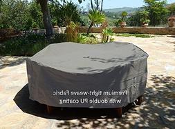 """Premium Tight Weave Fabric Patio Set Cover 104""""Dia. Fits squ"""