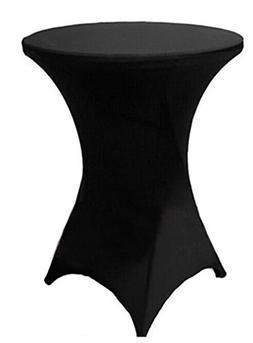 "Tina 24x43"" Cocktail Spandex Stretch Square Corners Tableclo"