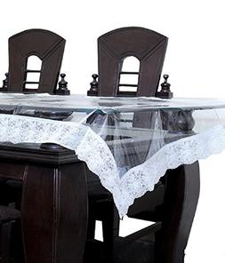 Kuber Industries Transparent Dining Table Cover 6 Seater 609