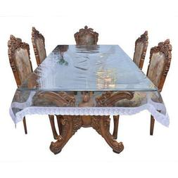 AP$COLLECTION Transparent Dining Table Waterproof Clear Tabl